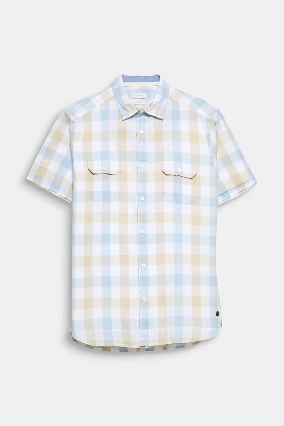 The light and airy fabric made of pure cotton is perfect for summer: short-sleeved shirt with a checked pattern.