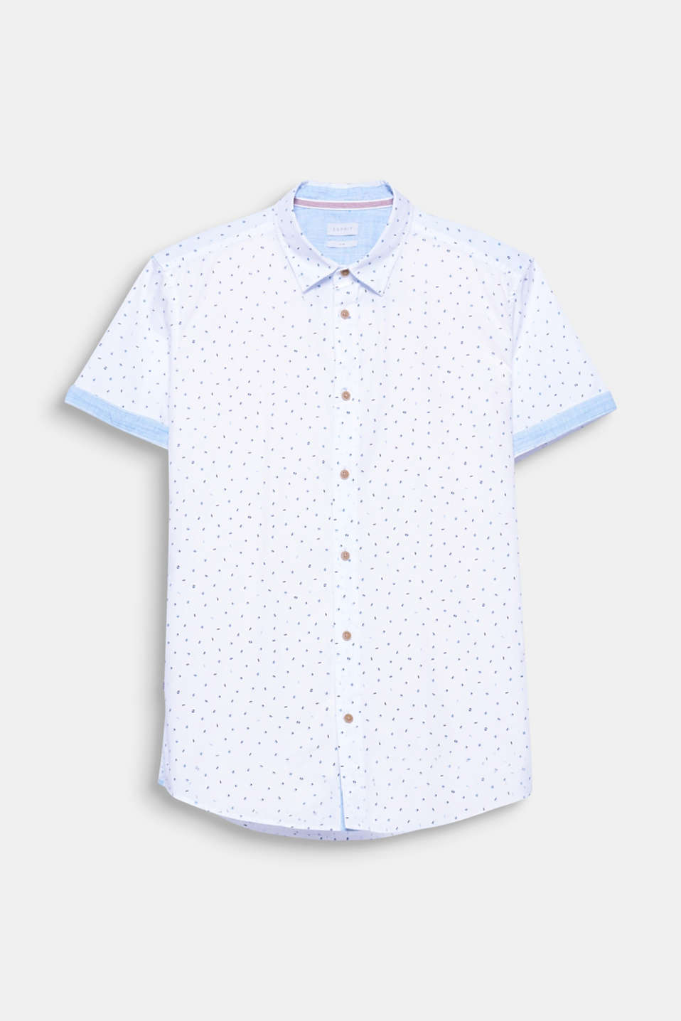 The geometric print gives this shirt in 100% cotton a modern and urban look.