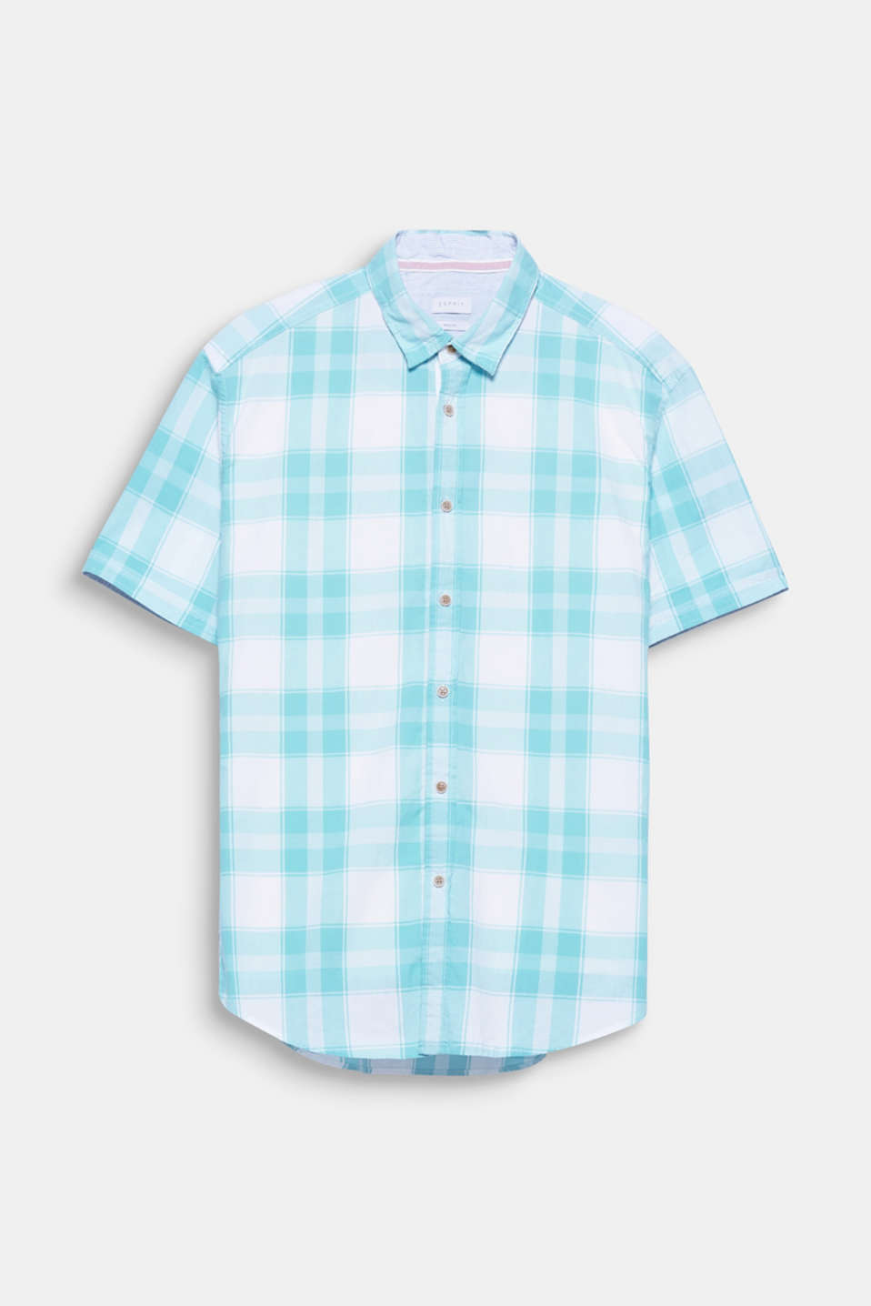We love checked patterns! This short sleeve shirt with a check pattern impresses with its soft pastel tones.