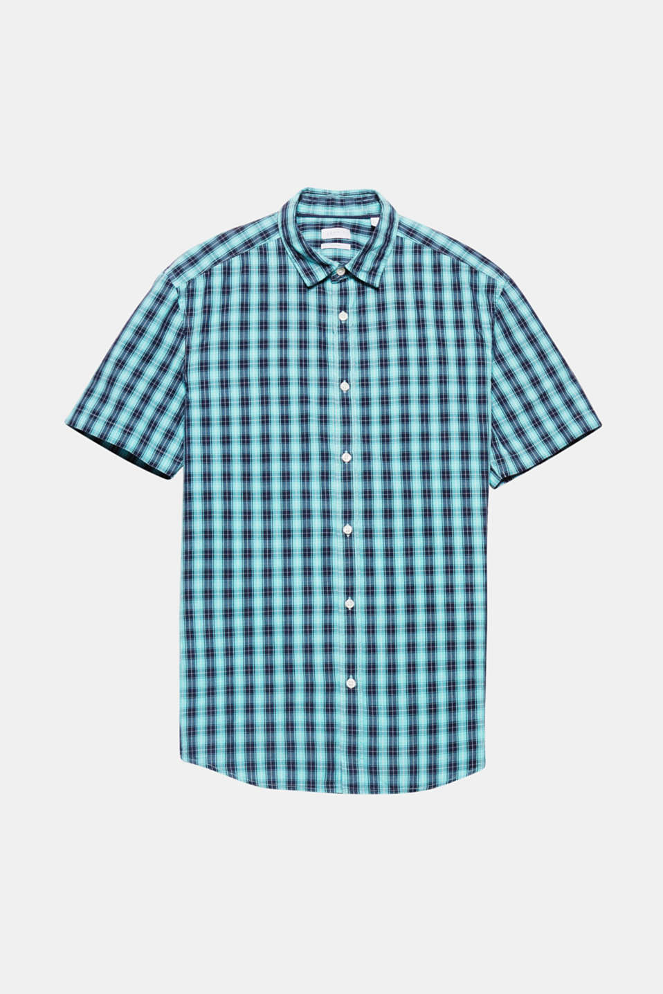 The striking check pattern gives this short sleeve shirt made of pure cotton a distinctive look.