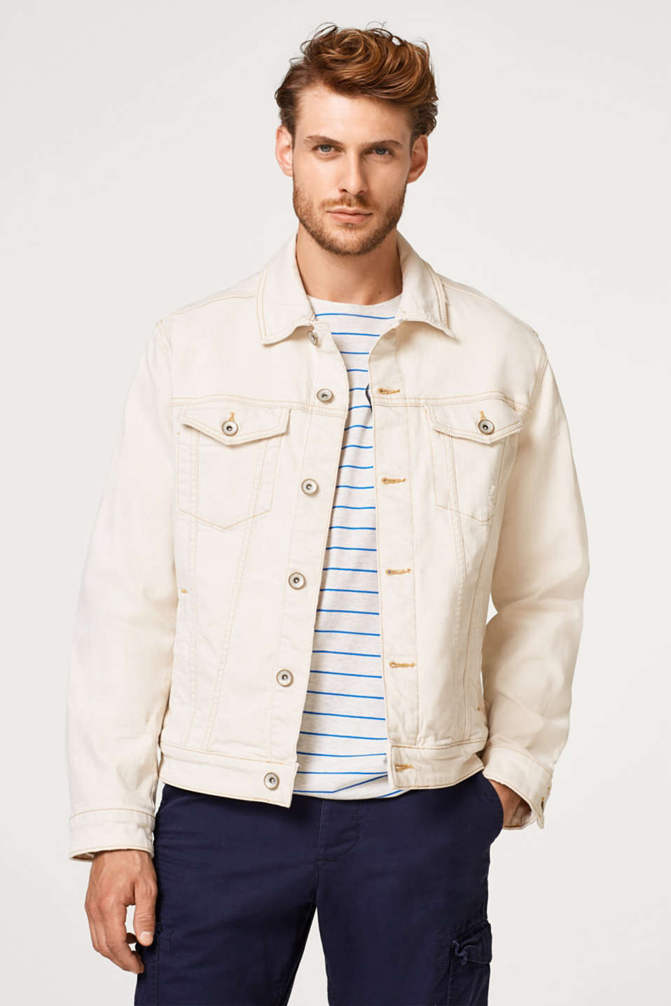 Esprit - Denim jacket in a pale shade