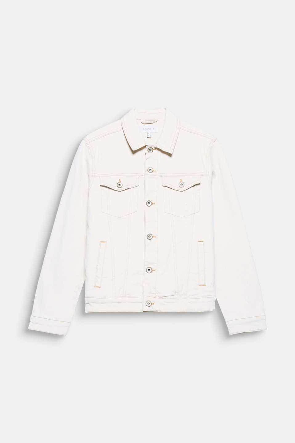 Inspired by workwear! The exceptionally pale shade makes this denim jacket in bleached denim a one of a kind piece.