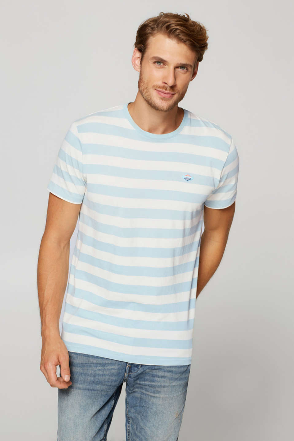 Esprit - Striped jersey T-shirt in cotton