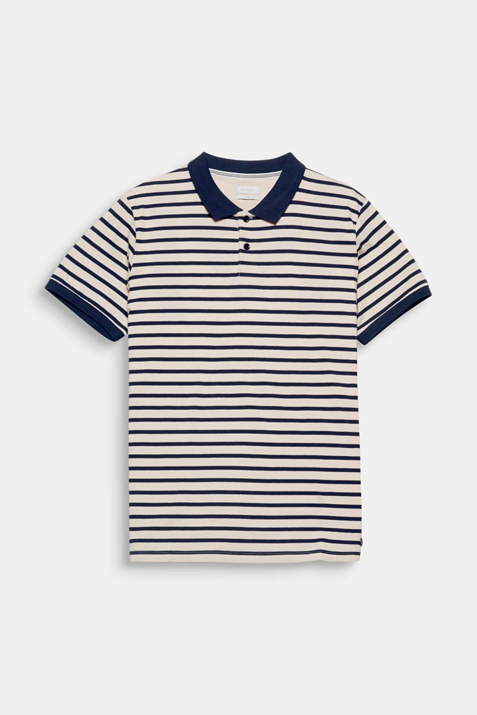 This polo shirt with nautical stripes made from 100% cotton is a new take on a fashion essential!