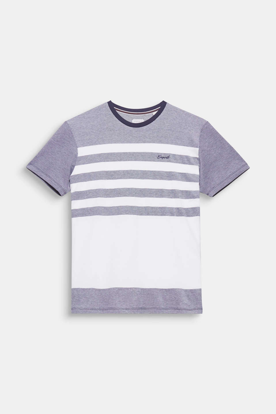 This T-shirt features stripes in smooth jersey and grainy piqué for an exciting mix of textures.
