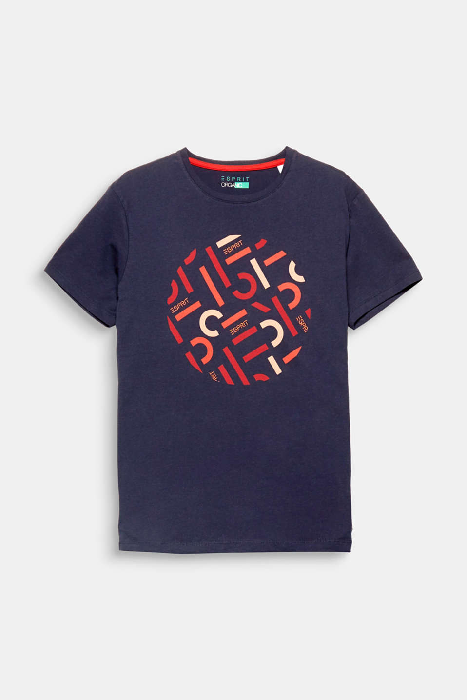 We love ESPRIT! The authentic logo print gives this T-shirt containing high-quality organic cotton a cool look.