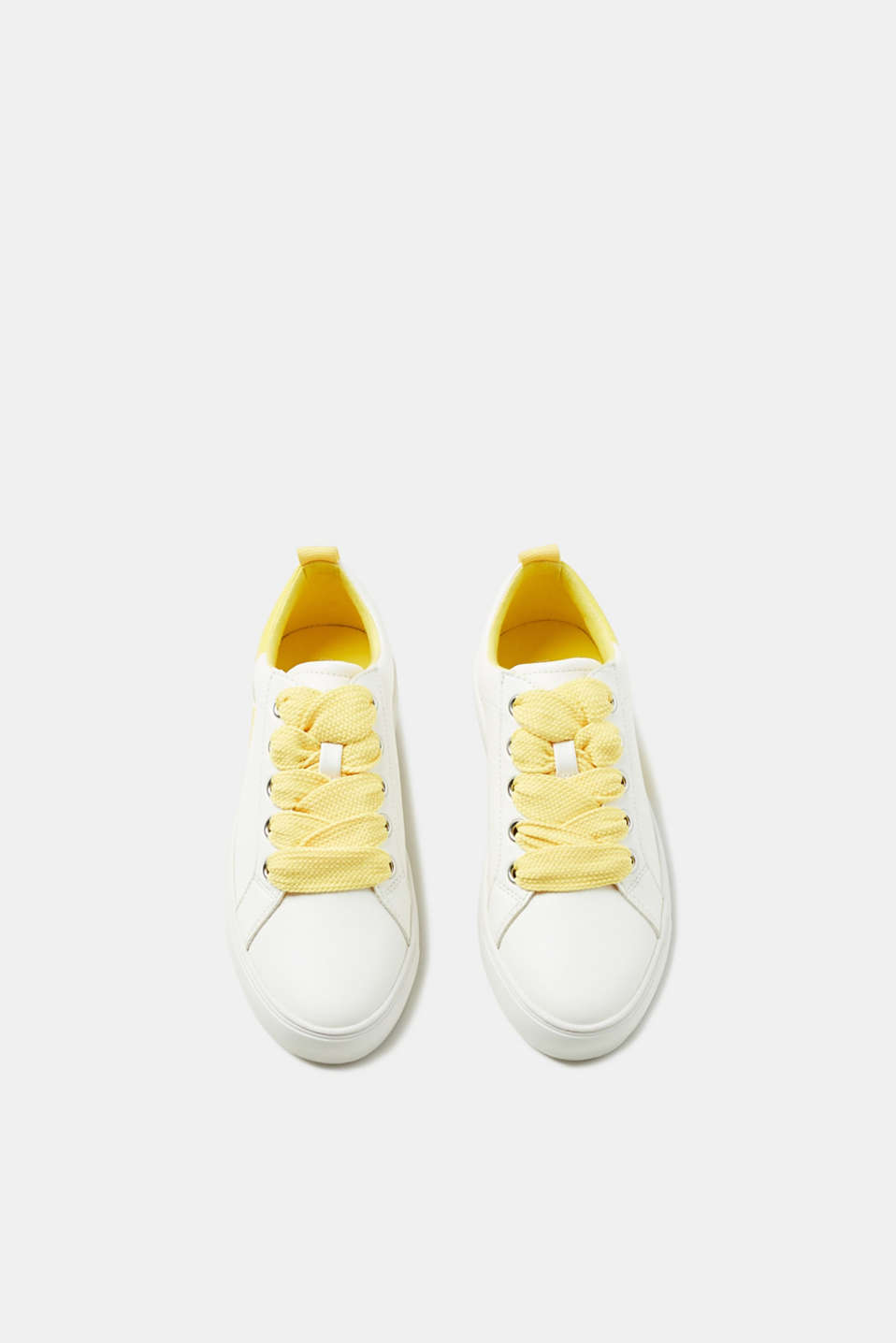 Trainers with colour accents, faux leather