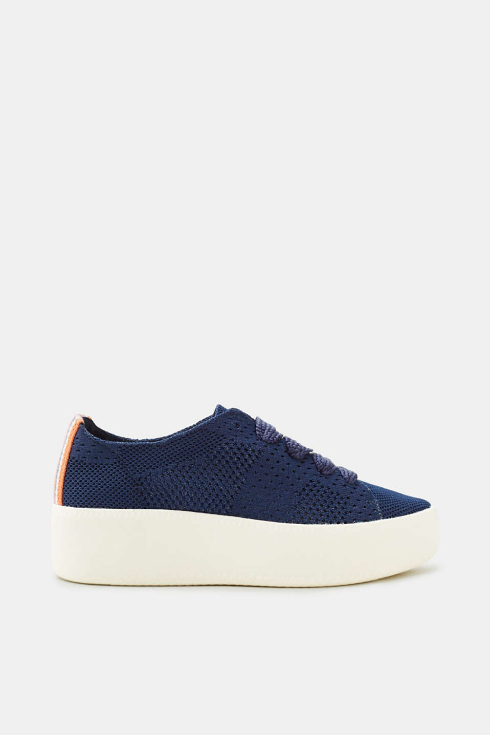 Esprit - Knitted trainers with a platform sole