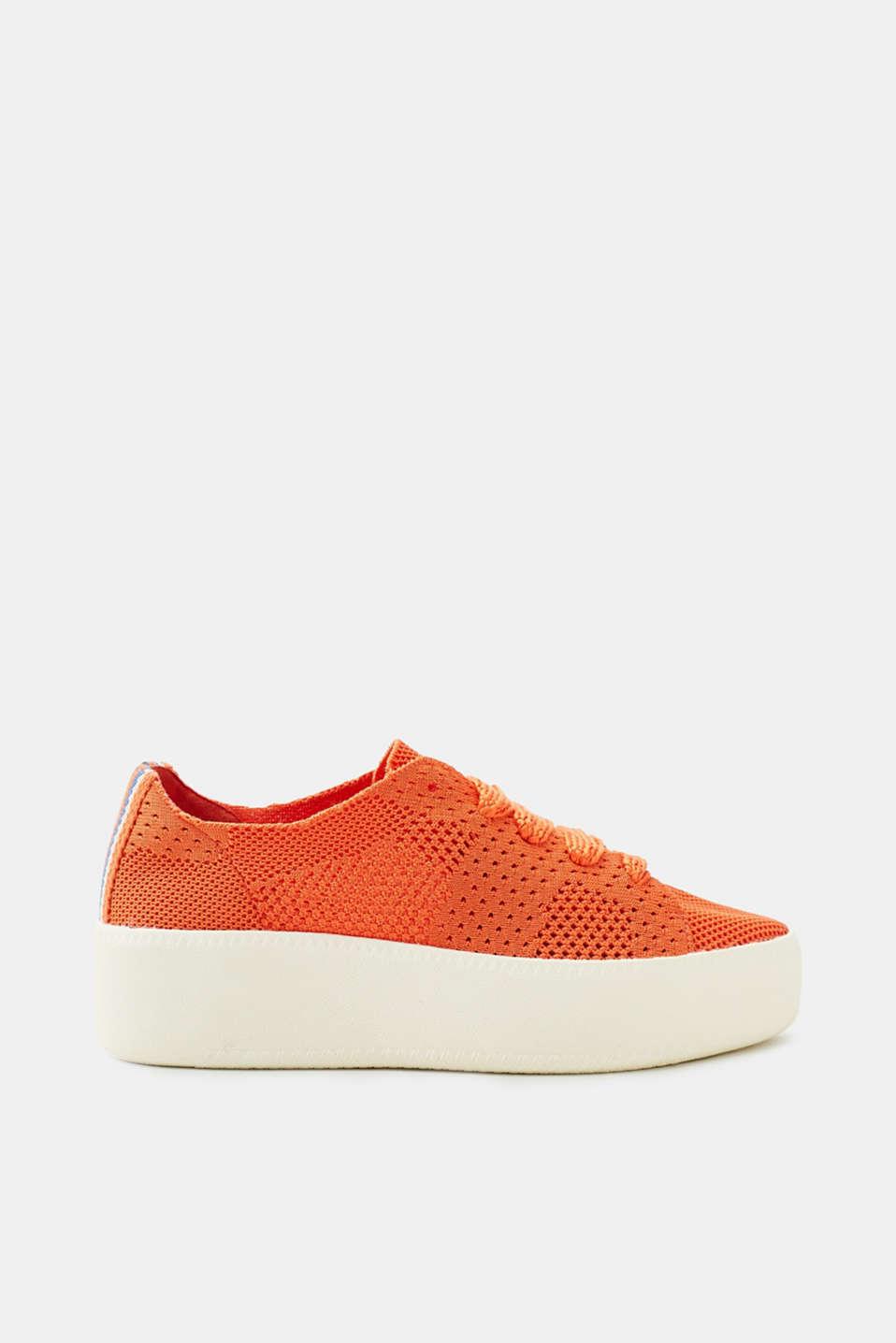 Esprit Strick-Sneaker mit Plateausohle für Damen, Größe 41, Orange