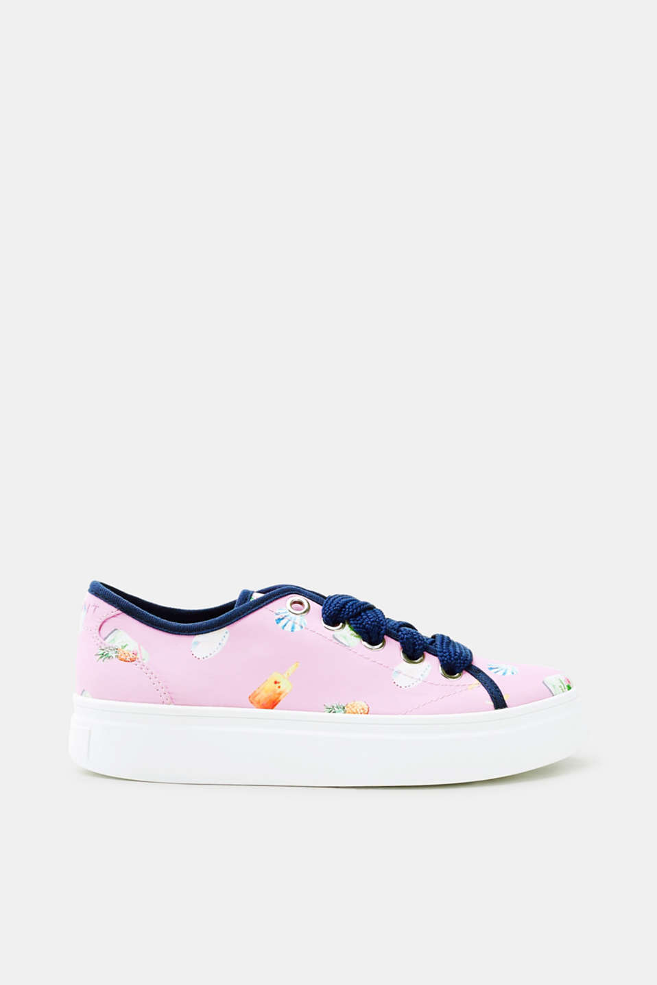 Esprit - Satinsneakers med sommerprint