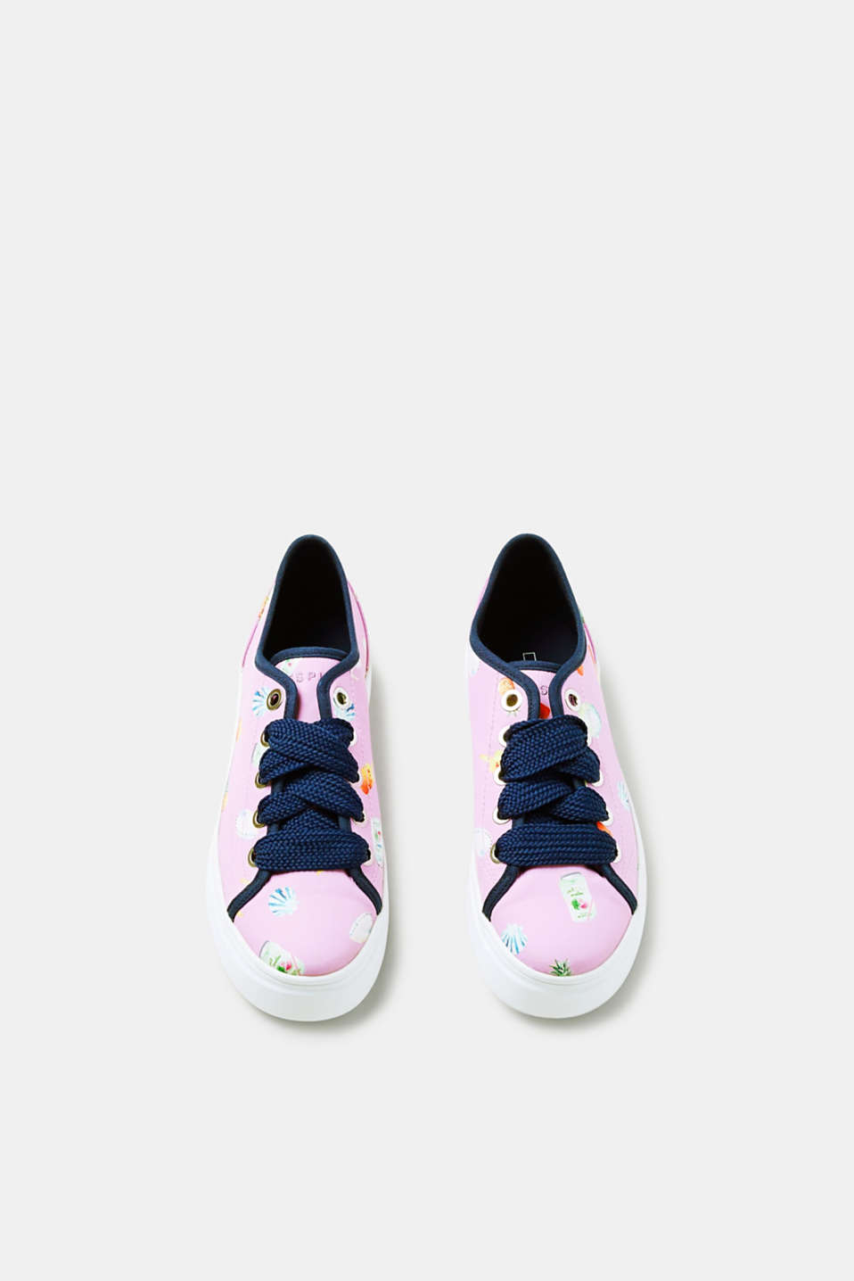 Satinsneakers med sommerprint