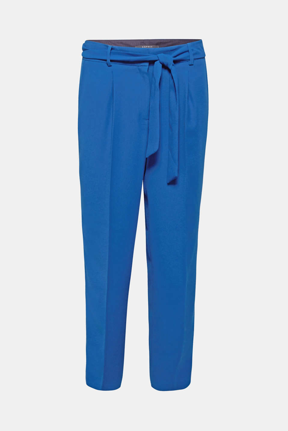 Super soft and casually chic: these flowing, cropped crêpe trousers with a tie-around belt are comfortable yet extremely fashionable!
