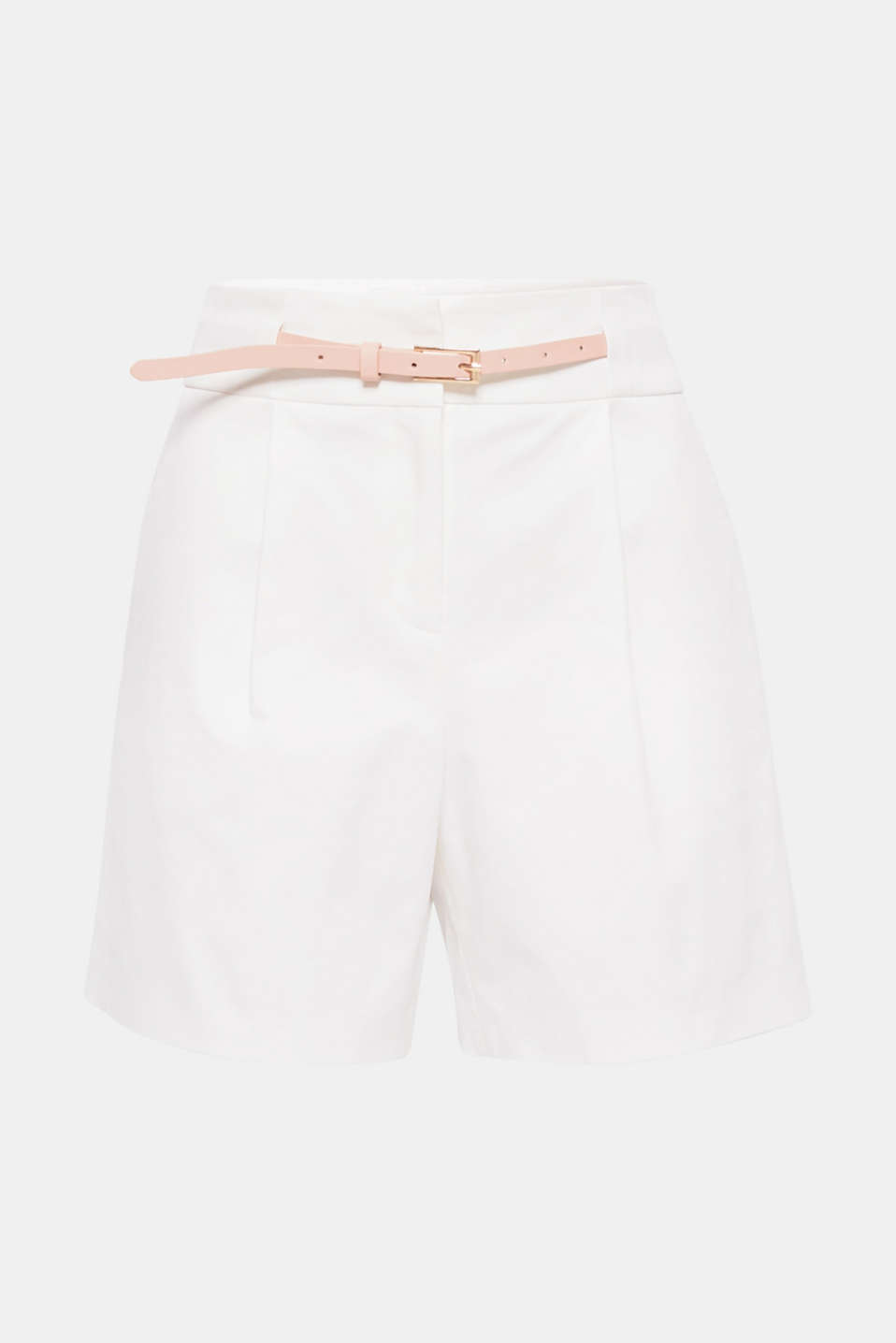 An absolute classic for stylish summer combinations: these stretch shorts featuring waist pleats and a belt are extremely versatile, bang on-trend and will give your look a unique twist.