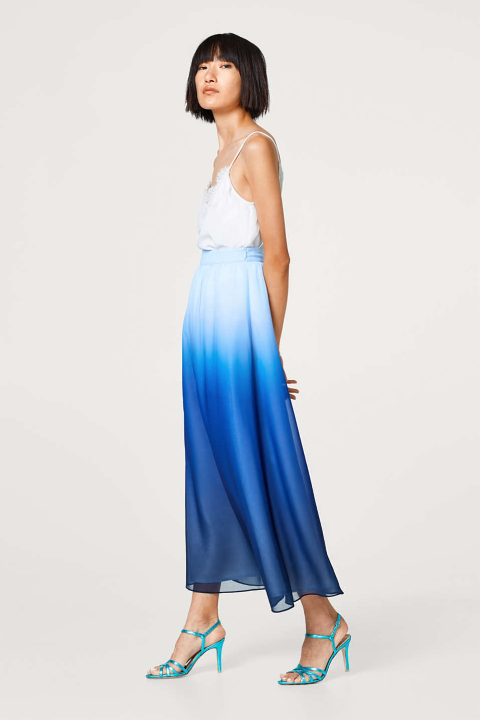 Esprit - Maxi skirt in a dip-dye look