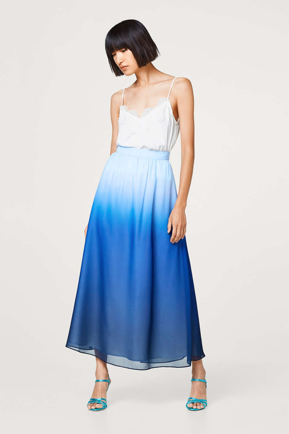 Maxi skirt in a dip-dye look