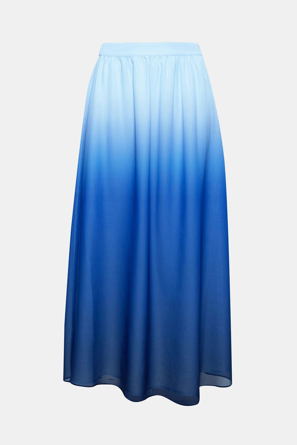 Delicate chiffon with attractive colour gradation makes this swirling maxi skirt a special highlight for lovely evenings and festivities!