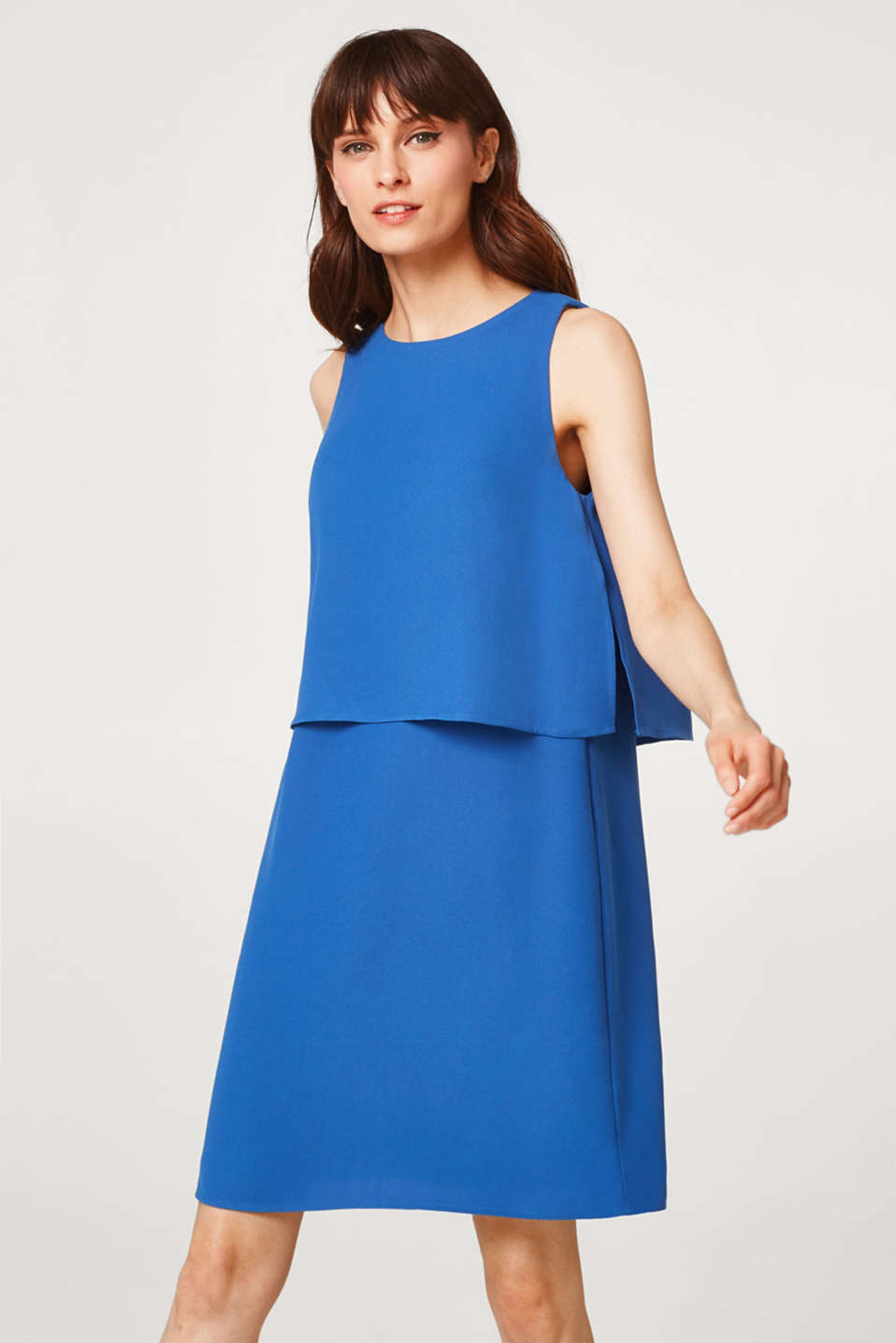 Esprit - Layered-effect dress with a soft drape
