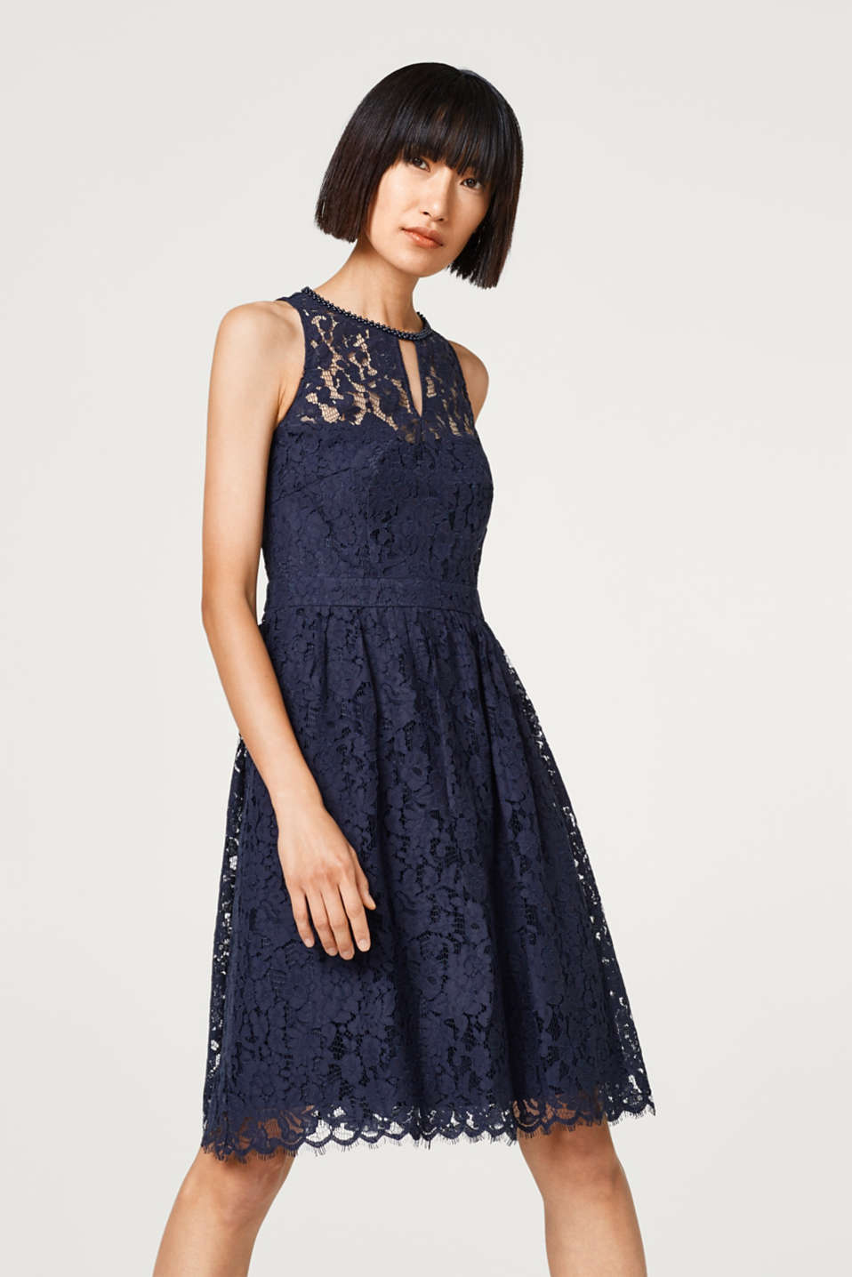 Esprit - Lace dress with bead embellishments