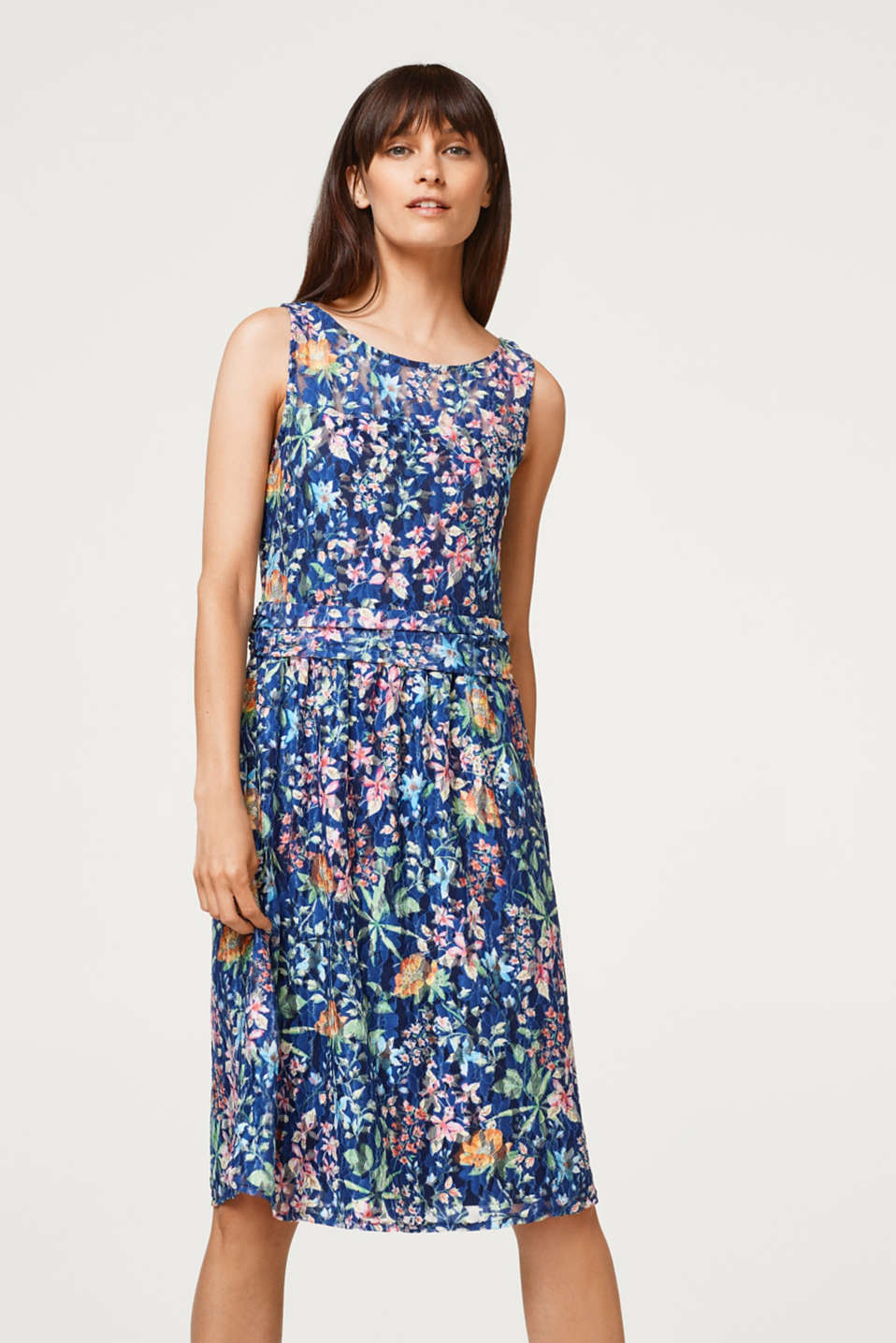 Esprit - Stretch lace dress with a floral print