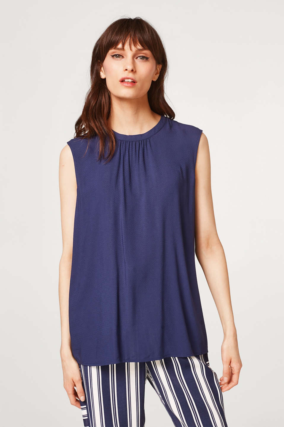 Esprit - Blouse top with a subtle texture