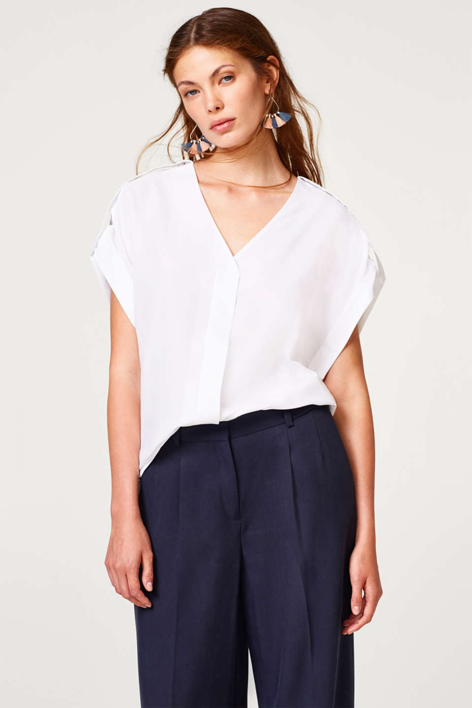 Esprit - Blouse top with a fine texture