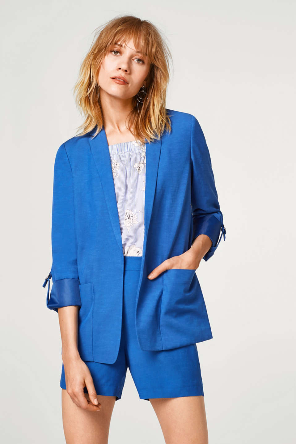 Esprit - SUMMER SUIT mix + match casual turn-up blazer