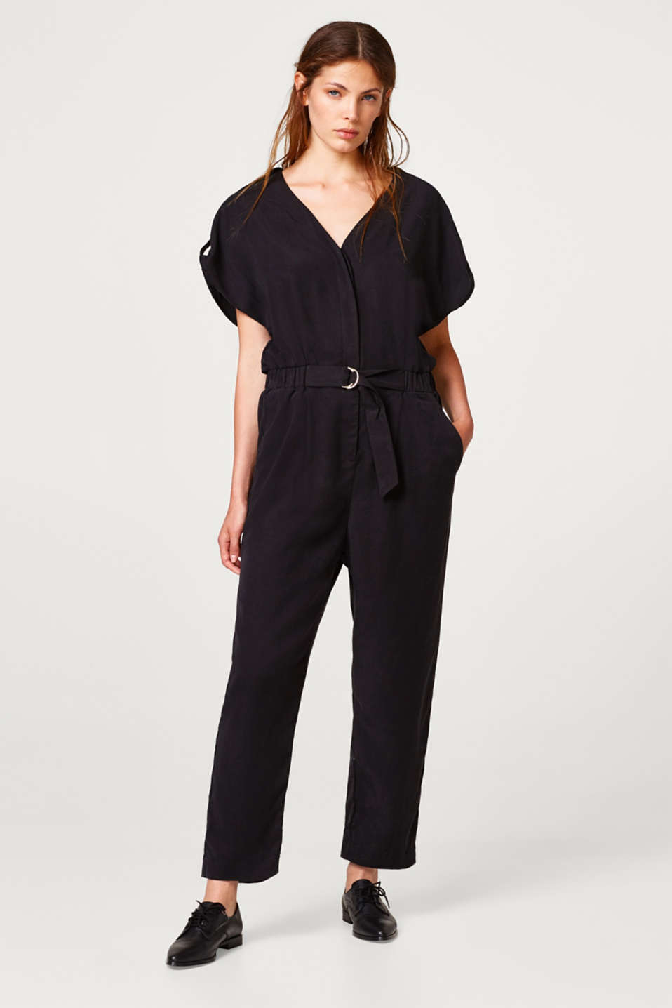 Esprit - Lyocell jumpsuit with 80s flair