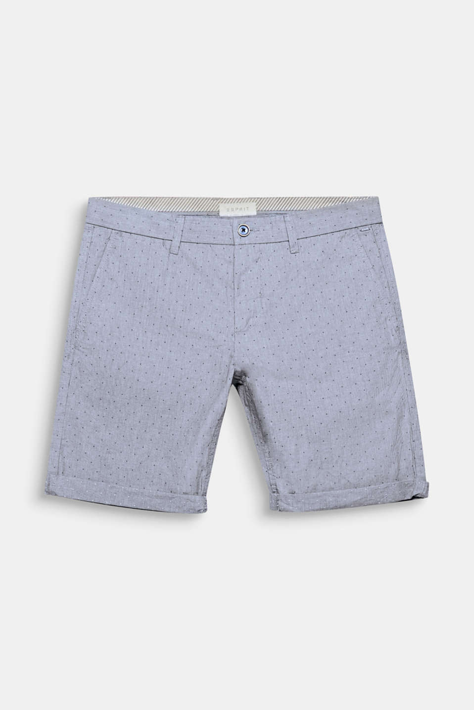 A fine houndstooth and dot pattern makes these shorts seriously smart.