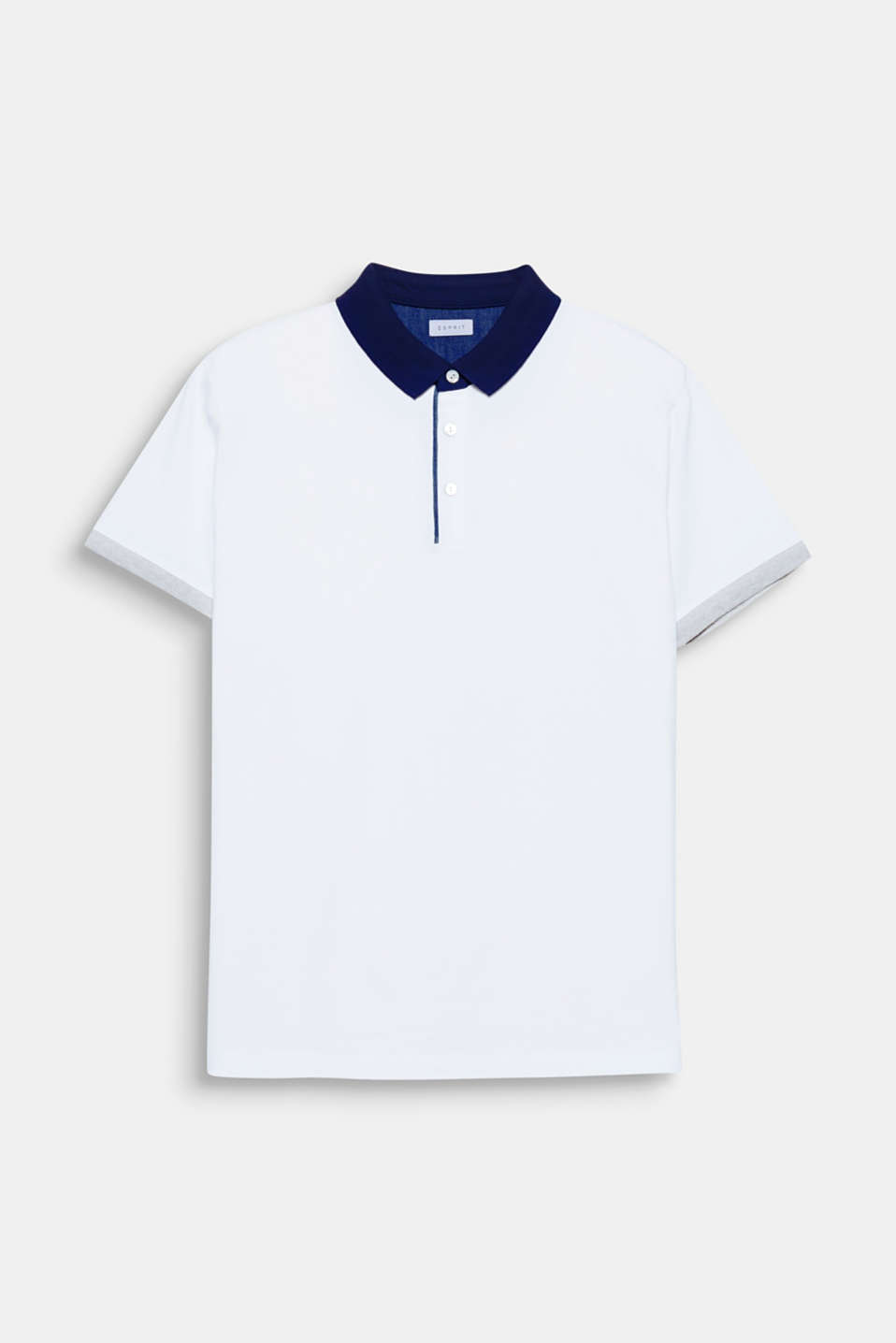 The contrasting colour collar and sleeve cuffs give this polo shirt a modern colour block look.