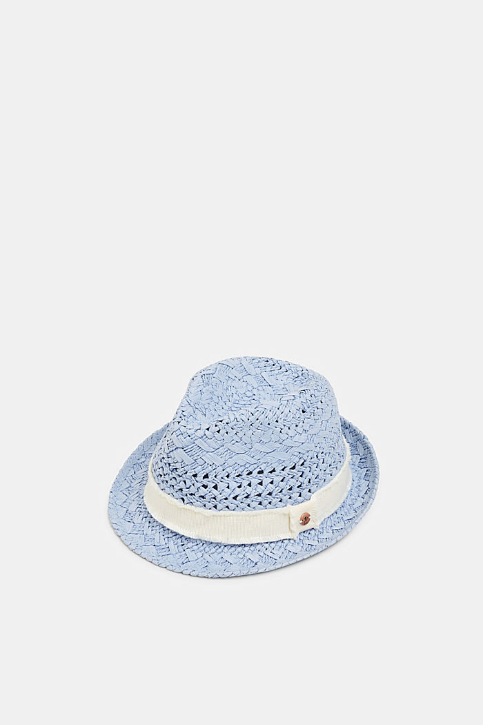 Straw trilby, BLUE, detail image number 0