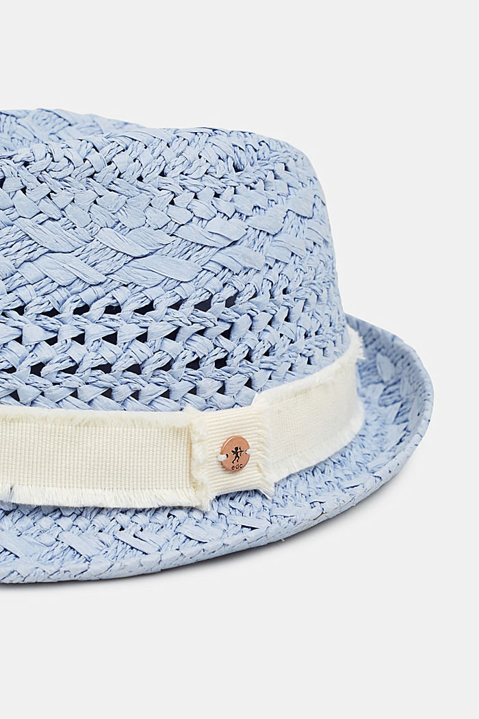 Straw trilby, BLUE, detail image number 1