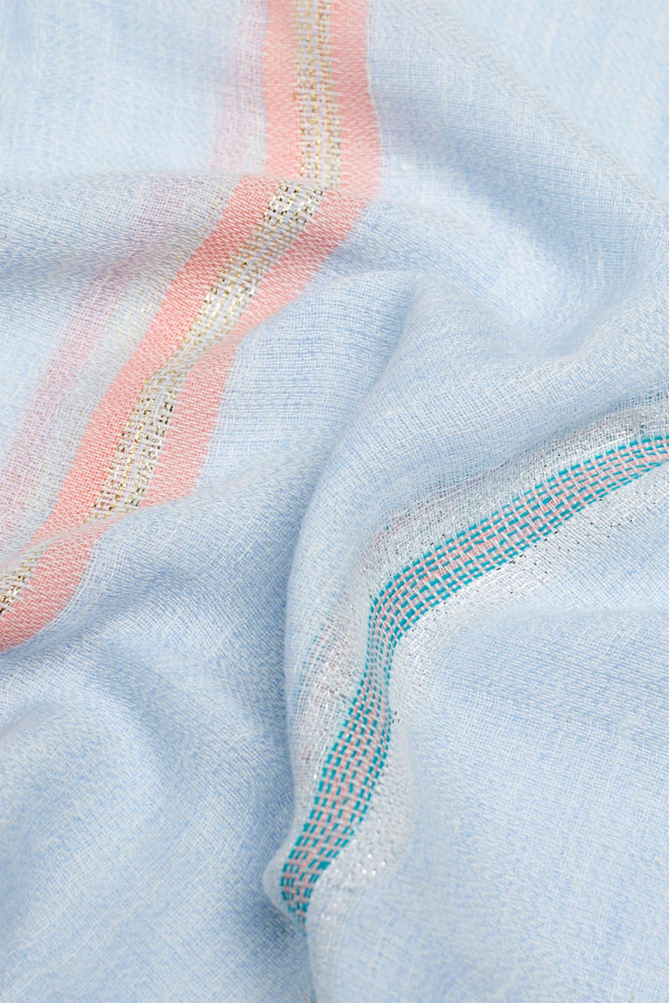 Shawls/Scarves, LIGHT BLUE, detail image number 2