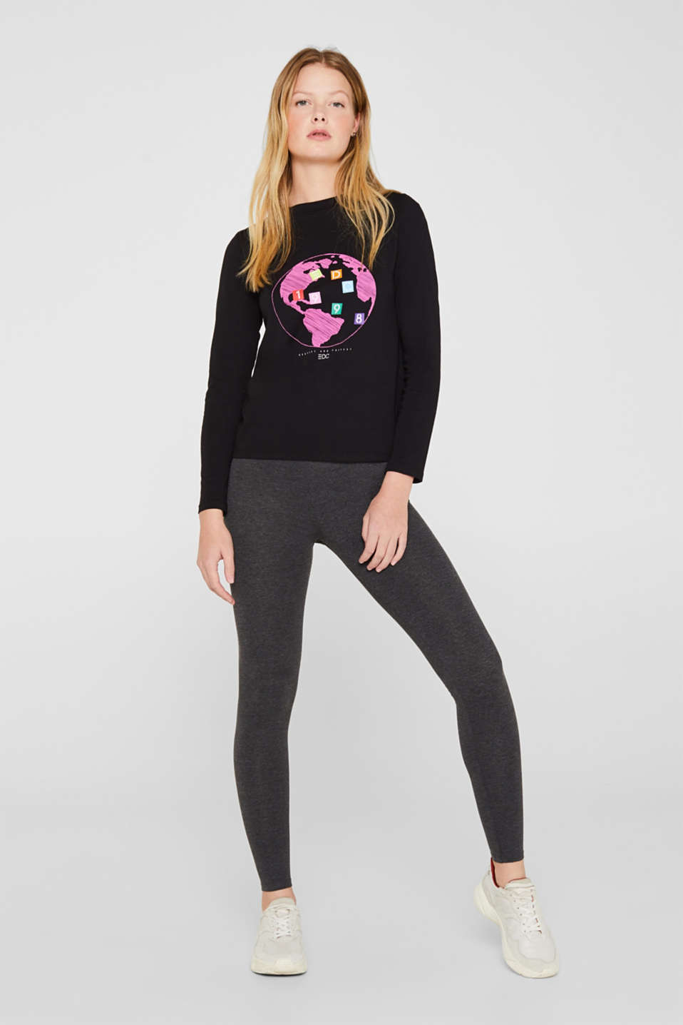 edc - Legging met stretch en organic cotton