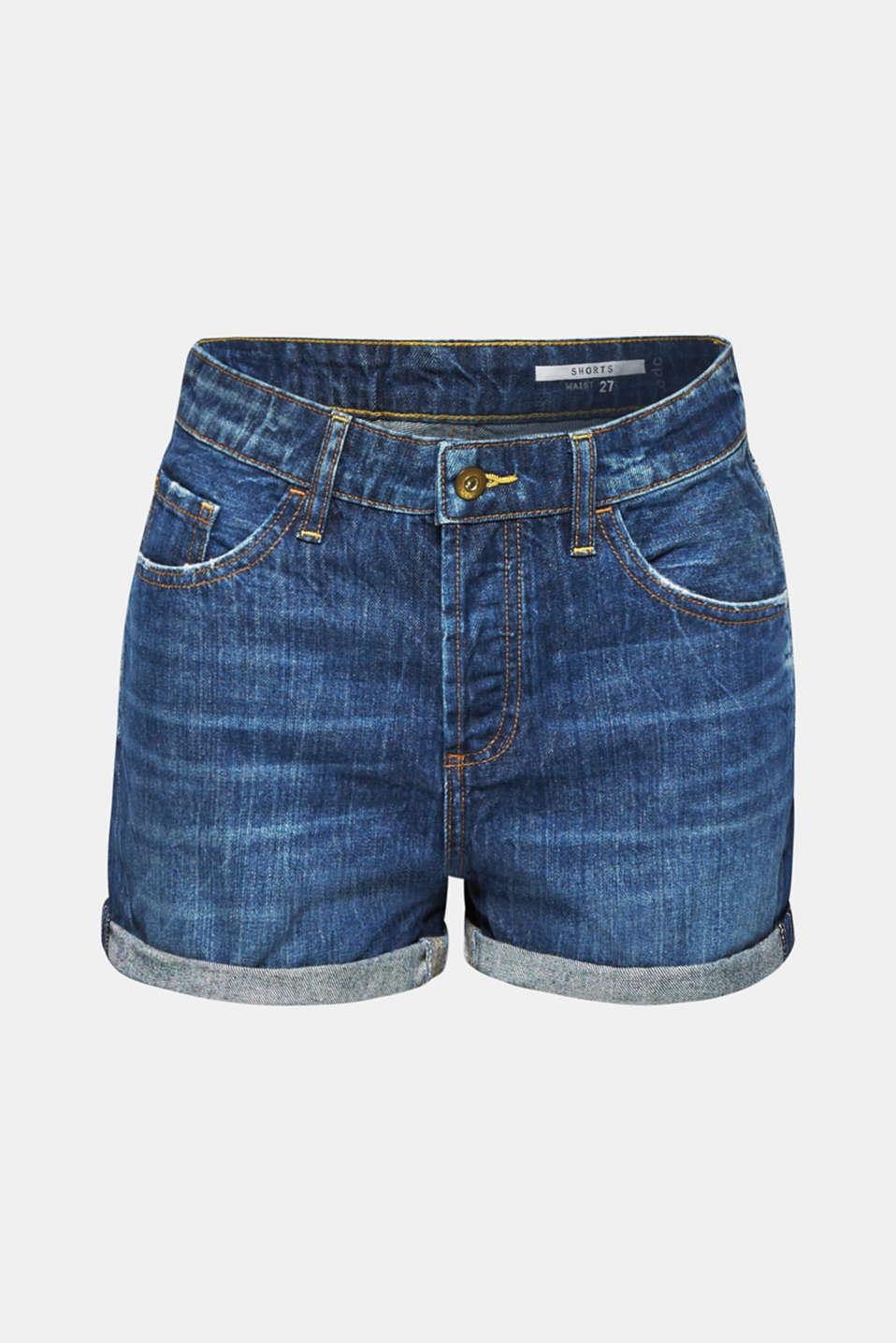 Shorts denim, BLUE DARK WASH, detail image number 6