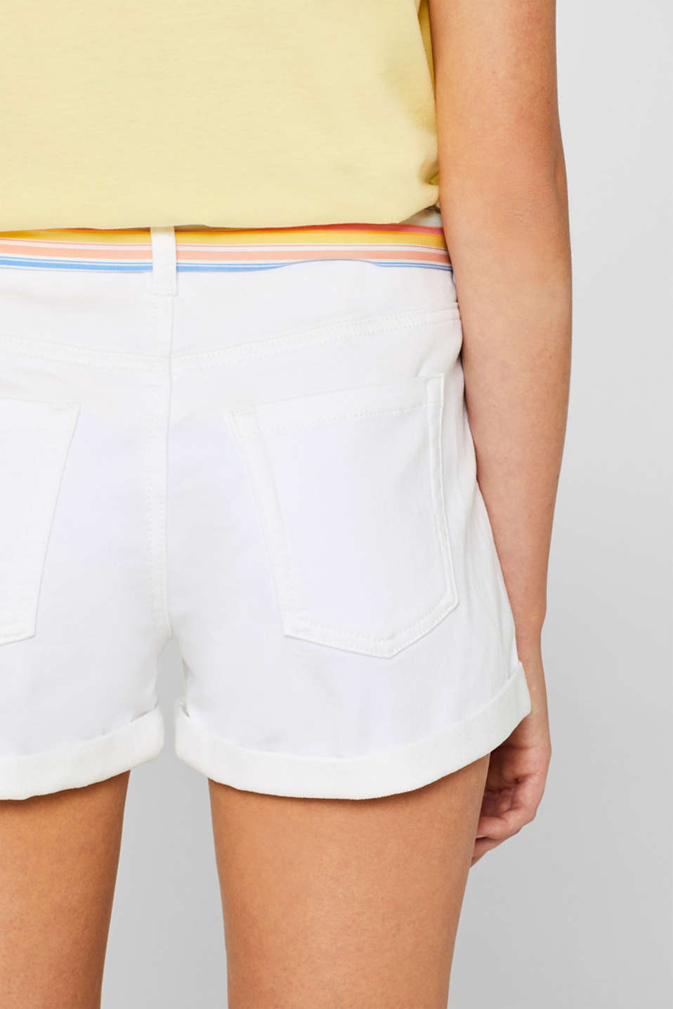 Shorts denim, WHITE, detail image number 5