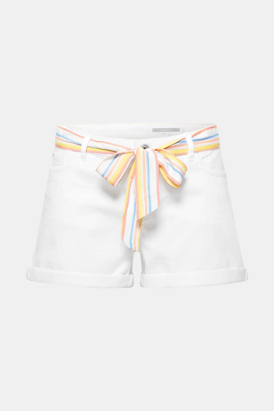 Shorts denim, WHITE, detail image number 8