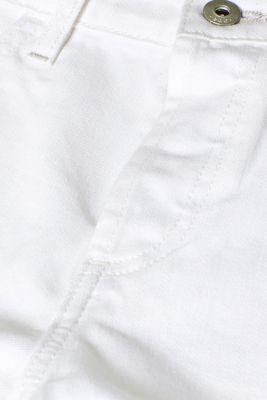 White denim shorts, 100% cotton