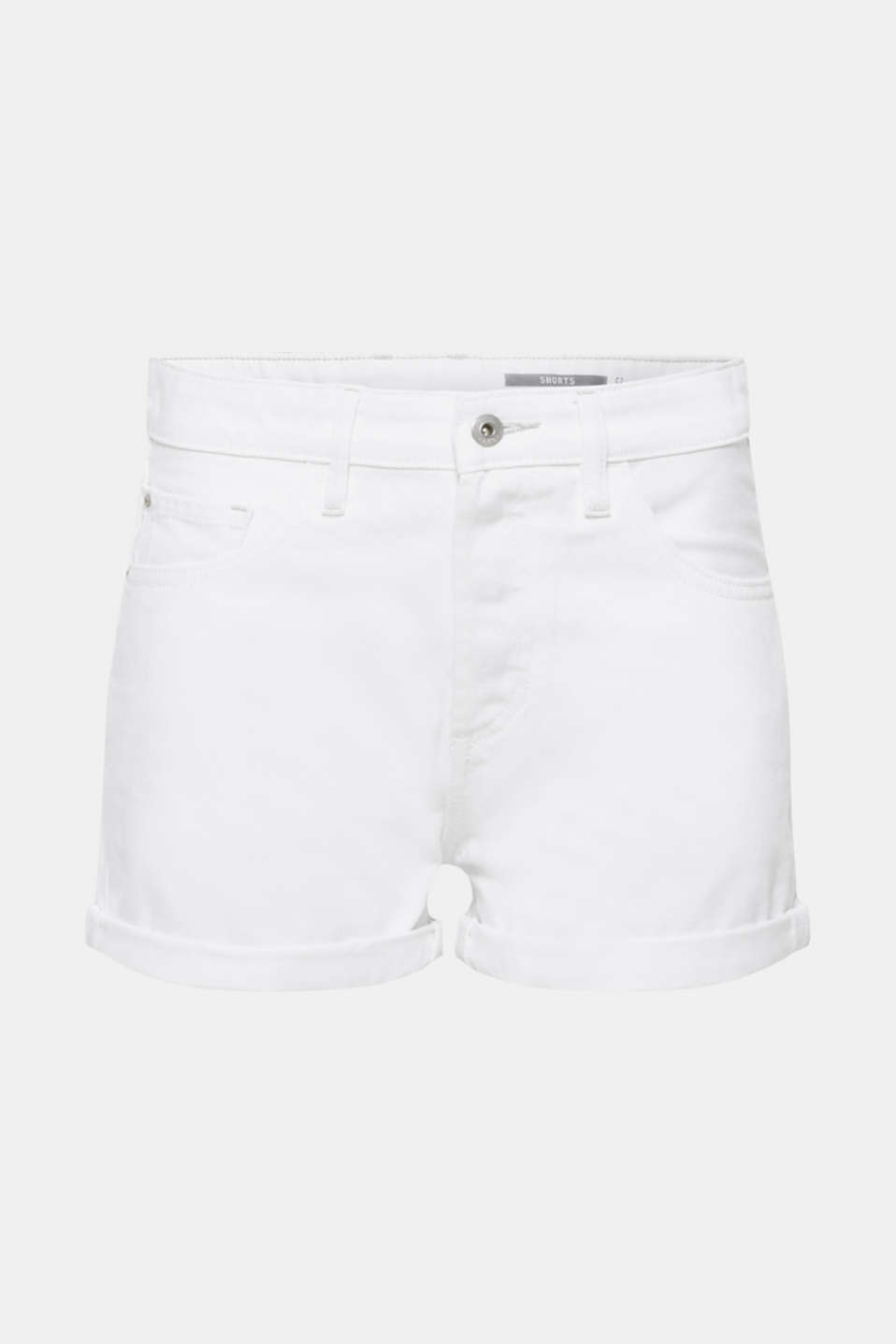 Shorts denim, WHITE, detail image number 7