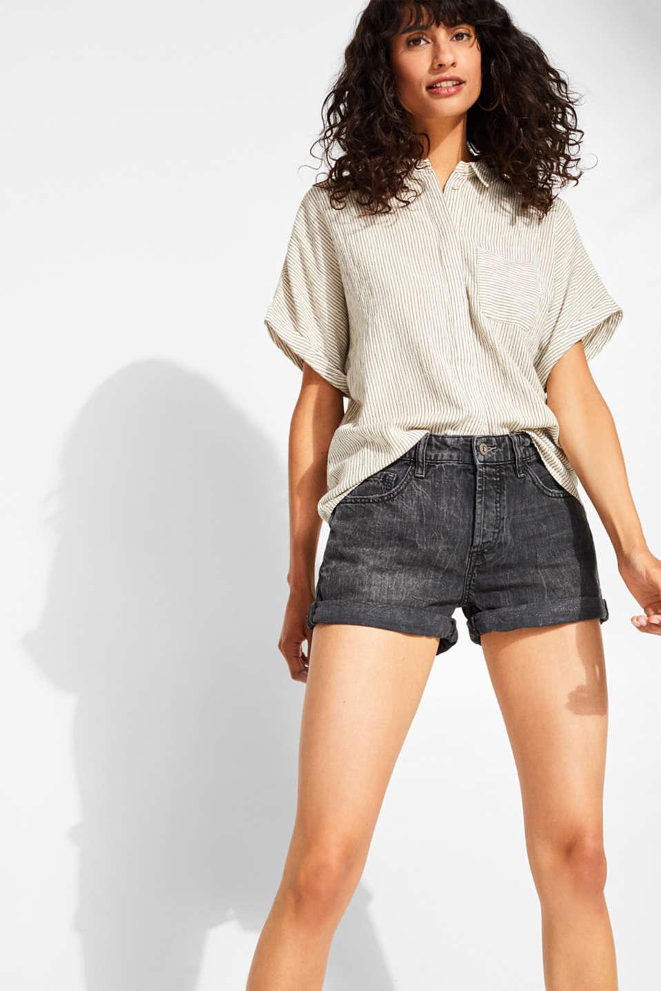 eecaaef59ea6 edc : Shorts vaqueros con tira de botones, 100% algodón en la Online ...