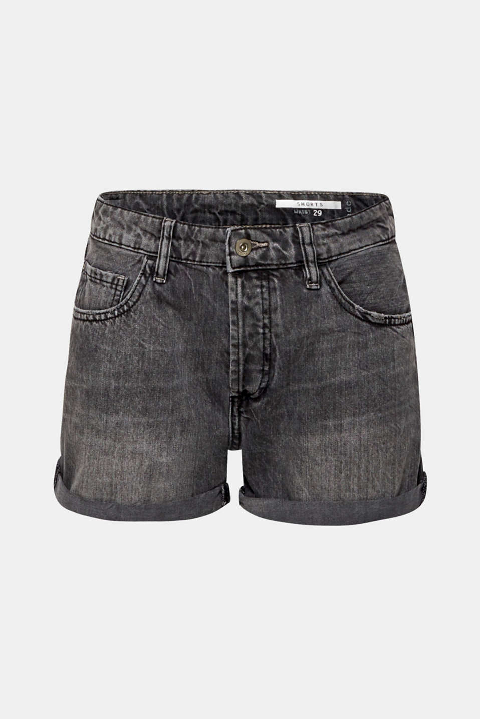 Shorts denim, BLACK MEDIUM WASH, detail image number 8