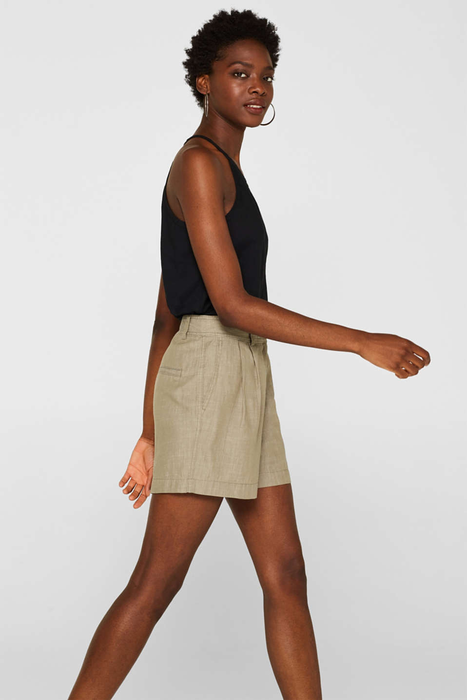 Shorts woven, DARK KHAKI, detail image number 5