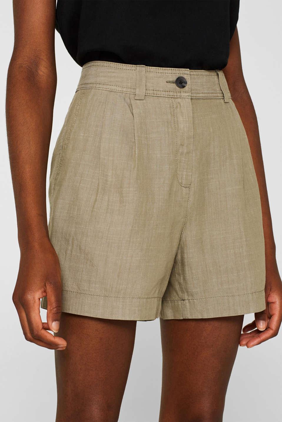 Shorts woven, DARK KHAKI, detail image number 2