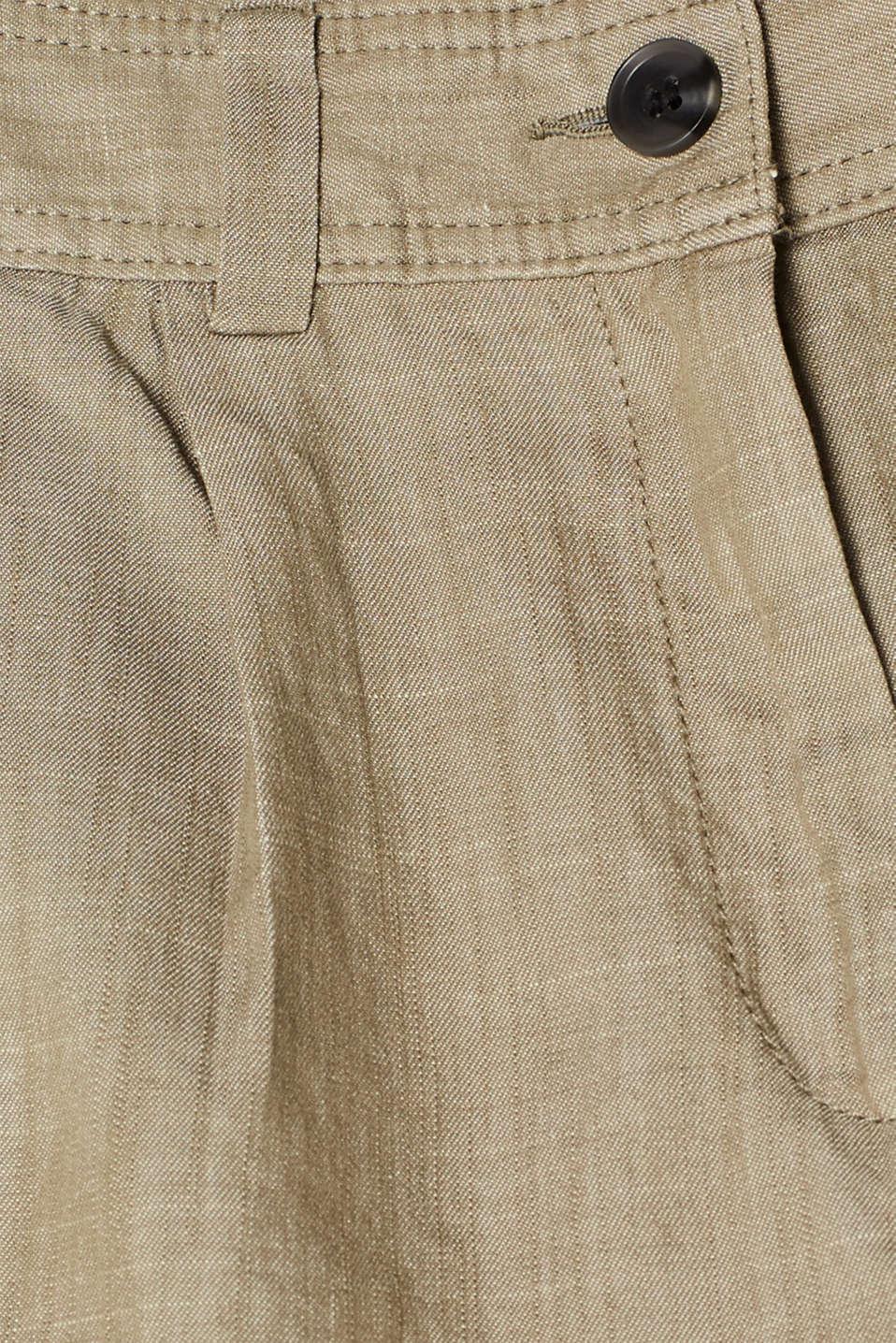 Shorts woven, DARK KHAKI, detail image number 4