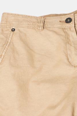 Linen blend: Garment-washed shorts, SKIN BEIGE, detail