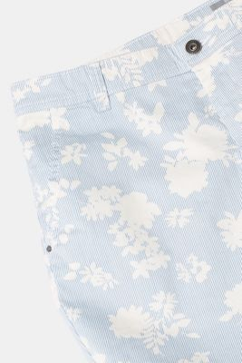 Bermuda shorts with a floral print, stretch cotton