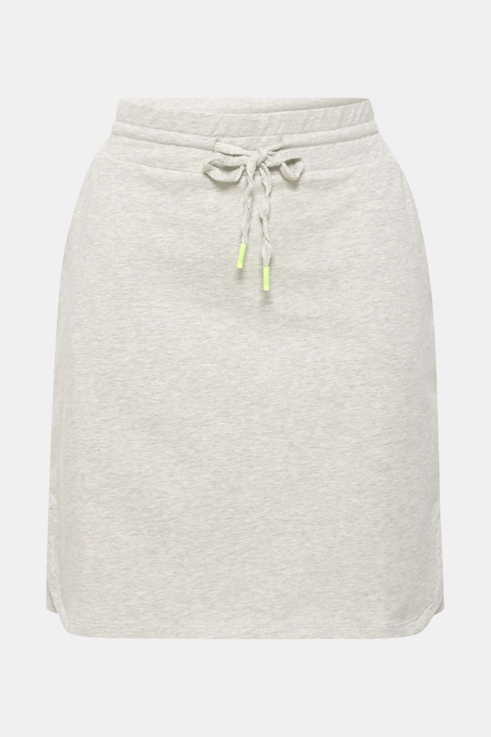 Sweatshirt fabric skirt with stretch and neon details, MEDIUM GREY, detail image number 6
