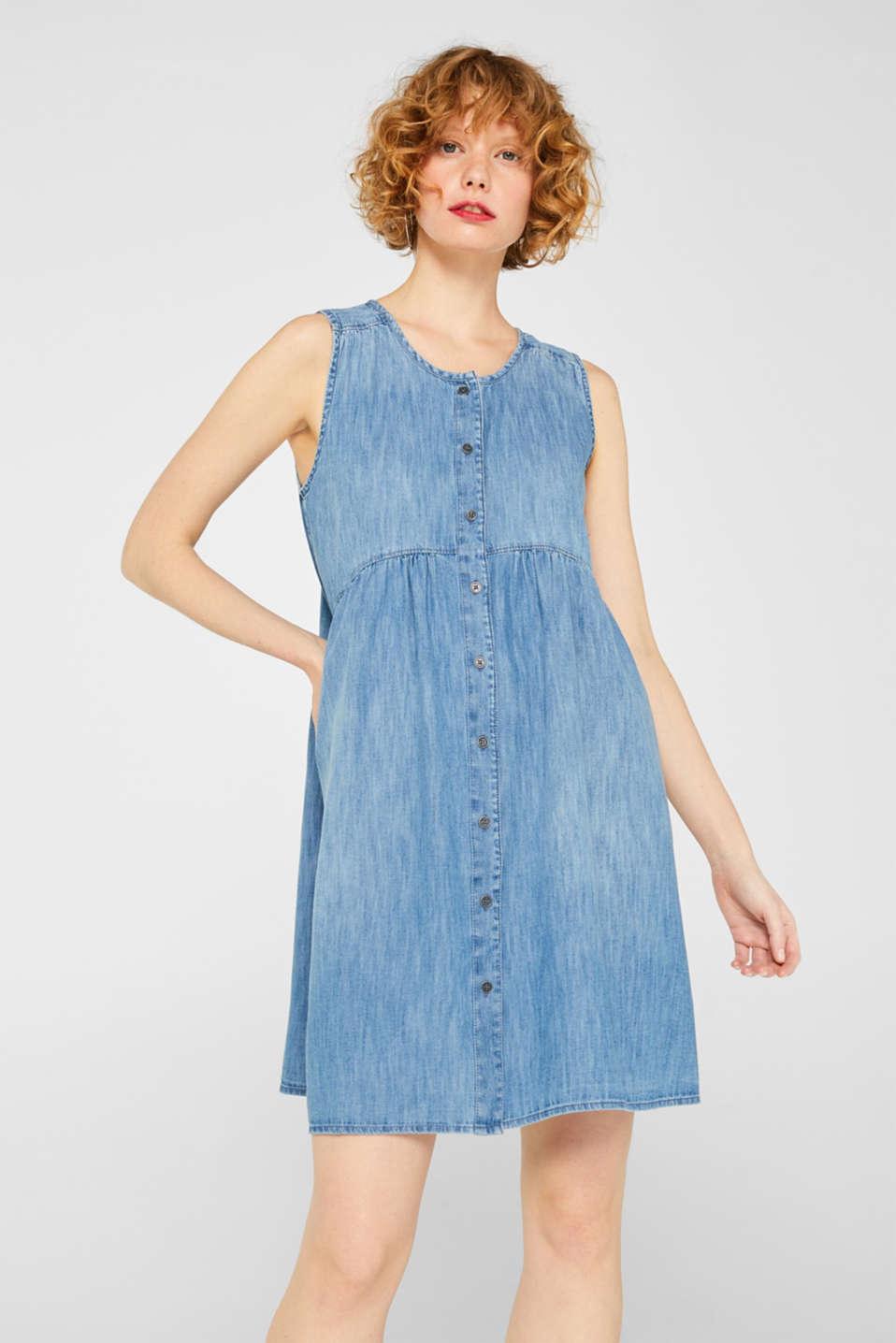 Dresses light woven, GREY BLUE, detail image number 0