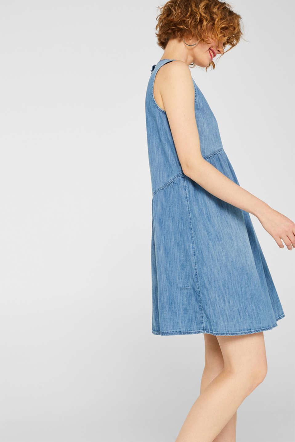 Dresses light woven, GREY BLUE, detail image number 4