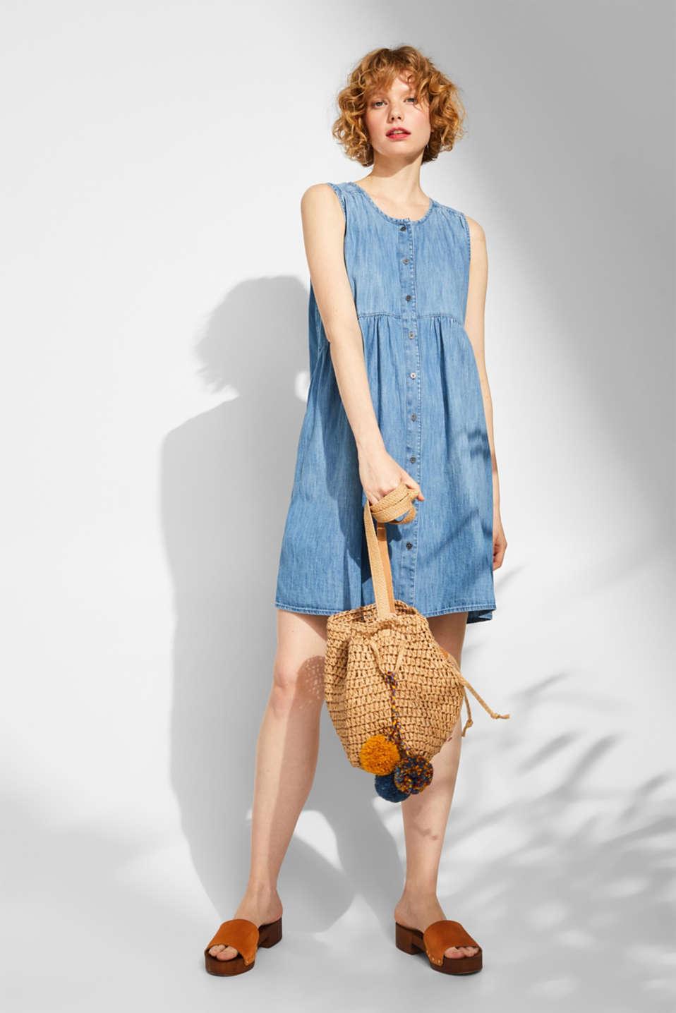Dresses light woven, GREY BLUE, detail image number 1