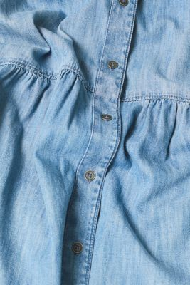 Denim dress with a button placket, 100% cotton